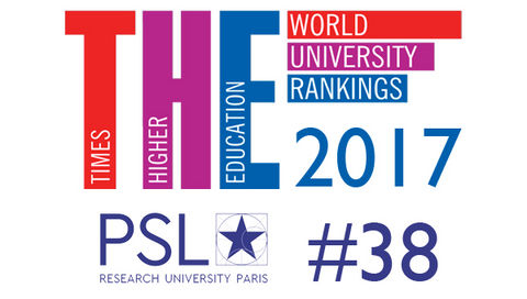 Paris Sciences et Lettres fait son entrée à la 38e place du Reputation Ranking - Times Higher Education