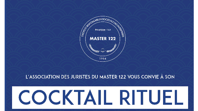 Cocktail rituel du Master 122